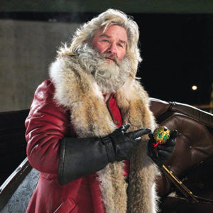 "Kurt Russell as Santa Claus or St. Nick, (he's OK with both) in ""The Christmas Chronicles"" is actually quite funny. Or it could've been the egg nog I enjoyed while watching. (photo courtesy of Netflix)"