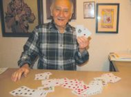 Nonagenarian lifts his poker face to reveal a secret to longevity