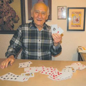 Fairfax District resident George Epstein said the game of poker stimulates the brain, which may help stave off dementia. (photo by Edwin Folven)