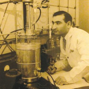 George Epstein, shown in the 1950s, was an aerospace engineer who helped develop adhesives and building materials used in satellites and spacecraft. (photo courtesy of Sue Epstein)