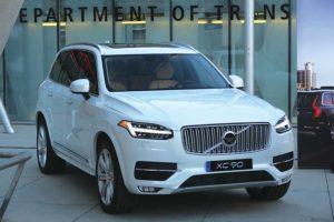 LADOT displays an autonomous Volvo