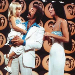 Sonny and Cher at Television City in 1974. (photo courtesy of CBS)