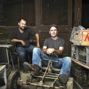 As they hit the back roads from coast to coast, Mike Wolfe (right) and Frank Fritz are on a mission to recycle and rescue forgotten relics. (photo courtesy of Cineflix)