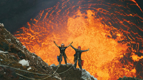 """The California Science Center's new film """"Volcanoes 3D"""" takes audiences into a boiling lava lake, down hydrothermal vents at the bottom of the ocean, to an active volcano and more. (photo courtesy of Boutique Publicity)"""
