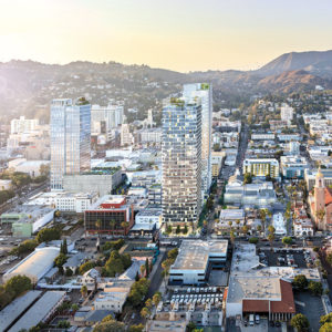 The Crossroads Hollywood project, approved by the City Council on Jan. 22, will bring apartments, commercial space and a new hotel to Hollywood while retaining the existing Crossroads of the World complex on Sunset Boulevard. (photo courtesy of Harridge Development Group)