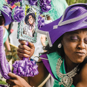 New Orleans' traditional second line parades exemplify a legacy of African-inspired ritual and performance. (photo by Pableaux Johnson)