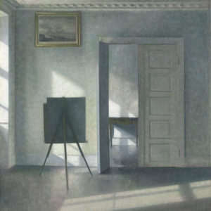 Vilhelm Hammershøi's compositions showcase a rigorous geometry, sober palette and lack of sentimental anecdote, reminiscent of Dutch 17th-century painting.  (photo courtesy of the J. Paul Getty Museum)