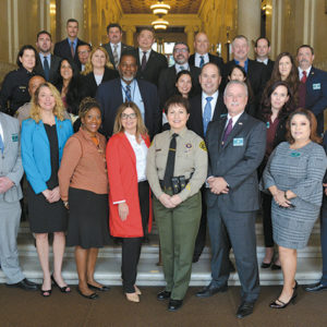 The Los Angeles Regional Human Trafficking Task Force includes investigators from agencies throughout the county. They joined with counterparts throughout California for Operation Reclaim and Rebuild. (photo courtesy of the LASD)