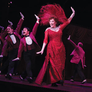 """Betty Buckley, who starred in the original Broadway production of """"Cats,"""" takes the stage at the Hollywood Pantages Theatre as the enthusiastic matchmaker Dolly Gallagher Levi in """"Hello, Dolly!"""" (photo by Julieta Cervantes)"""