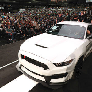 The Ford Shelby Mustang sold at the Barrett-Jackson Scottsdale Auction was one of only 37 units ever produced and belonged to the Petersen's Founding Chairman Bruce Meyer, who has donated all of the proceeds to the Petersen and the Henry Ford Museum. (photo courtesy of Barrett-Jackson Scottsdale Auction)