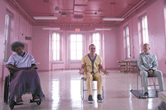 """Elijah (Samuel L. Jackson), Kevin (James McAvoy) and David (Bruce Willis) appear in M. Night Shyamalan's """"Glass,"""" a sequel that doesn't match its predecessors """"Unbreakable"""" and """"Split."""" (photo courtesy of Universal Pictures)"""