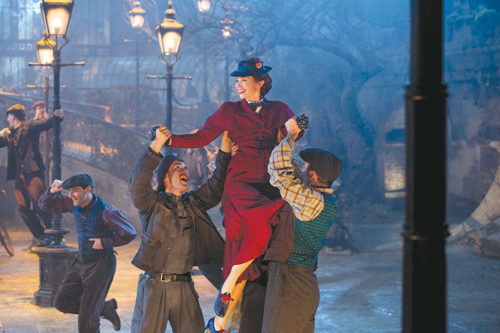 "Emily Blunt is delightful as the title character in ""Mary Poppins Returns,"" but the new movie has a tough time living up to the classic 1964 film. (photo courtesy of Disney Pictures)"