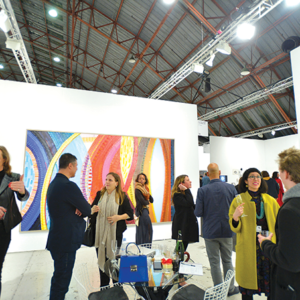 Art Los Angeles Contemporary hosted more than 15,000 people Feb. 13-17 at its 10th anniversary event in Santa Monica. More than 100 exhibitors from 19 countries presented their art. (photo by Charley Gallay/Getty Images for Art Los Angeles Contemporary)