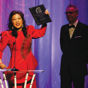 Kristina Wong was this year's recipient of the Dorothy and Richard E. Sherwood Award. The award, originally called the Richard E. Sherwood Award, was renamed last year to honor his wife Dorothy Sherwood as well. (photo by Ryan Miller/Capture Imaging)