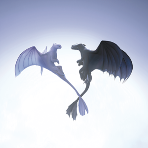 "Toothless and the Light Fury are lovable characters in the third installment of the ""How To Train Your Dragon"" series. (photo courtesy of Universal Pictures)"