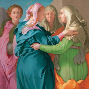 """At the end of the 1520s, during the siege that ended the last Florentine Republic, the painter Jacopo da Pontormo created one of his most innovative altarpieces, """"Visitation."""" (At the end of the 1520s, during the siege that ended the last Florentine Republic, the painter Jacopo da Pontormo created one of his most innovative altarpieces, """"Visitation."""")"""