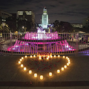 Reggae and glowing lights will set the mood for Valentine's Day in Grand Park. (photo courtesy of Javier Guillen for Grand Park/The Music Center)