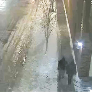 "A security camera photograph shows two individuals seen near the alleged attack on Jussie Smollett in Chicago who are being sought as ""persons of interest."" (photo courtesy of the Chicago Police Department)"