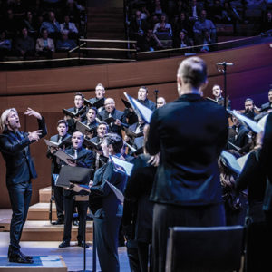 "Swan Family Artist-in-Residence Eric Whitacre will conduct ""The Sacred Veil,"" a performance addressing all stages of life and death, at the Walt Disney Concert Hall on Feb. 16 and 17. (photo by Tao Ruspoli/Marie Noorbergen)"