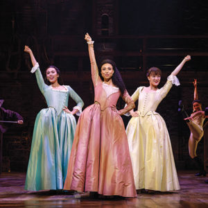 """""""Hamilton,"""" which returns to the Hollywood Pantages Theatre in March 2020, tells the story of Alexander Hamilton with a score that blends hip-hop, jazz, blues, rap, R&B and musical theater. (photo by Joan Marcus)"""