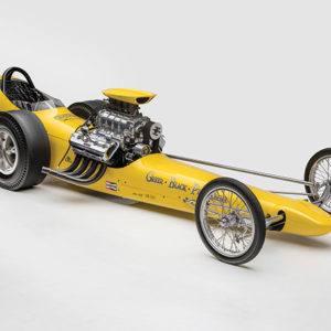 "The 1962 Greer Black Prudhomme, which was raced by drag racing legend Don Prudhomme, will be on view in the Petersen Automotive Museum's new exhibition ""Winning Numbers."" (photo courtesy of Kahn Media)"