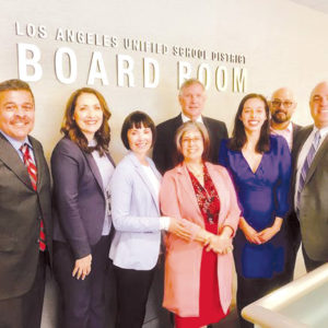 Los Angeles Unified School District leaders and educators joined with officials from the Council of Great City Schools to launch an initiative to improve the quality of math materials for English learners in middle school. (photo courtesy of LAUSD)