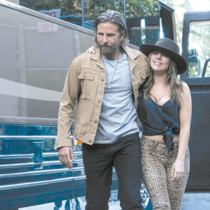 "Bradley Cooper and Lady Gaga give compelling performances in ""A Star is Born,"" a film that is entertaining but doesn't rise to the level of being the best of the year. (photo courtesy of Warner Bros. Pictures)"