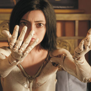 """Alita (Rosa Salazar) uses robotic limbs in her fight for good in the futuristic film """"Alita: Battle Angel."""" (photo courtesy of 20th Century Fox)"""