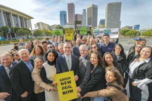 Mayor Eric Garcetti announced a plan to reduce reliance on natural gas and move toward a goal of using 100 percent renewable energy. (photo courtesy of Mayor Eric Garcetti's office)