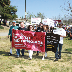 The 13th annual Walk Against Genocide will be held March 31 at Pan Pacific Park. (photo courtesy of Jewish World Watch)
