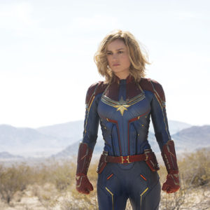 "Brie Larson plays the titular superheroine in ""Captain Marvel,"" which is set in the mid-1990s and features many of the regulars of the Marvel Cinematic Universe. (photo courtesy of Marvel Studios)"