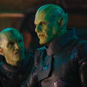"Ben Mendelsohn plays Talos, leader of a shapeshifting species of aliens known as Skrulls, in ""Captain Marvel."" (photo courtesy of Marvel Studios)"