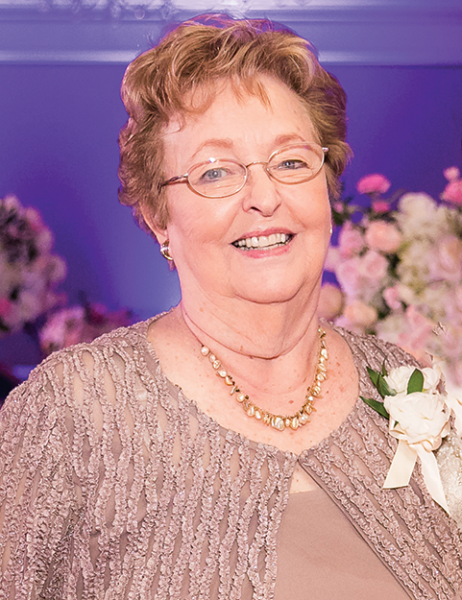Jean Hauck, mother of Karen Hauck Villalpando, and grandmother to Emily Villalpando Jilg and Rebecca Villalpando, last visited Los Angeles in April 2018 for the wedding of Emily and Michael Jilg, where this photo was taken. She was happy to have her whole family together for the special occasion. (photo courtesy of Emily Villalpando Jilg)