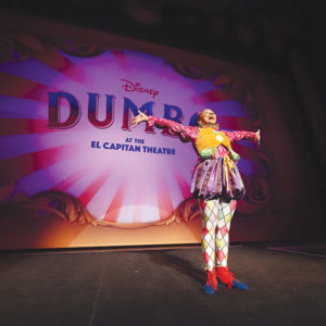 "The El Capitan Theatre will host circus performers to accompany showings of Disney's ""Dumbo."" (photo courtesy of the El Capitan Theatre)"