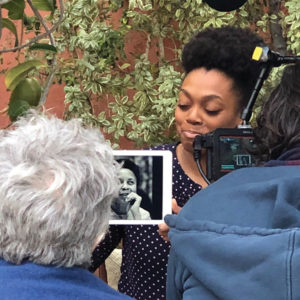 The nonprofit Look What SHE Did!, which includes several local residents, creates videos showing women talking about their heroines whose contributions have often been underappreciated or forgotten. (photo courtesy of Look What SHE Did!)