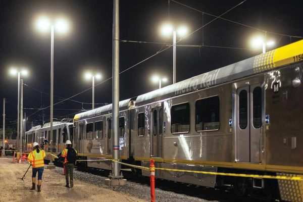 These light rail cars will be used on Metro's Crenshaw/LAX Line. West Hollywood officials want a new light rail line that will connect the new Crenshaw/LAX line, which is expected to open next year, and the Red Line subway to go through the city. (photo courtesy of Metro)