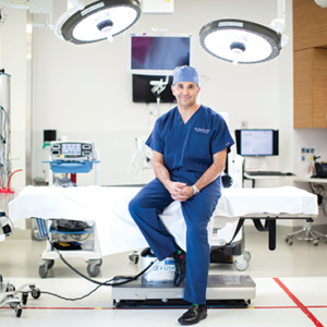 Dr. Ali Azizzadeh, director of vascular surgery at the Smidt Heart Institute, is one of the Cedars-Sinai physicians that use minimally invasive surgery to treat aneurysms.  (photo courtesy of Cedars-Sinai Medical Center)