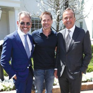 Caruso Founder & CEO Rick Caruso (right) joined Rosewood Hotels & Resorts President Radha Arora (left) and actor Rob Lowe at the opening ceremony of the Rosewood Miramar Beach in Montecito. (photo by Randy Shropshire, Getty Images)