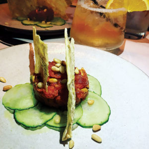 The Tonno Rosso is a work of art in presentation and flavors at Culina.  (photo by Jill Weinlein)