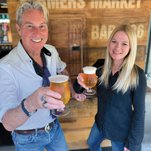 Gary Twinn and Melissa Kelly of Bar 326 and EB's at the Farmers Market are tapping a new barrel of Russian River IPA today at 5 p.m. (photo by Karen Villalpando)