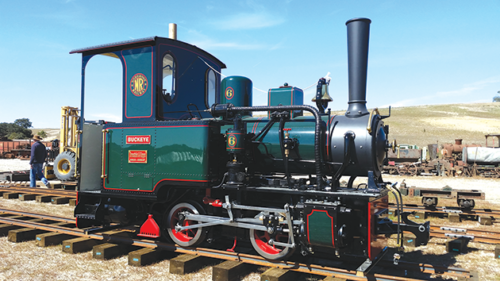 """A full-restored 1935 locomotive known as the Buckeye will be among the vintage trains on display at """"Railfest 2019"""" in Fillmore. (photo courtesy of the Fillmore & Western Railway)"""