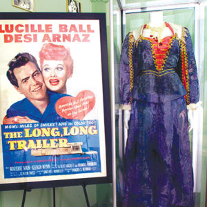 Numerous items from Lucille Ball's career will be on display in the exhibit at the Hollywood Museum. (photo courtesy of the Hollywood Museum)