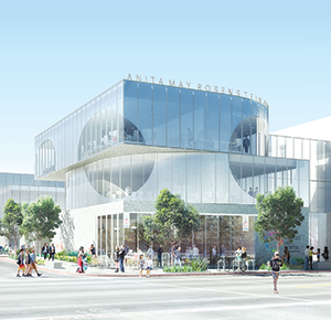 The public is invited to the opening of the Los Angeles LGBT Center's Anita May Rosenstein campus on April 7. (photo courtesy of the Los Angeles LGBT Center)