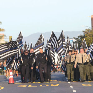 Law enforcement officers and other first responders will run along the streets of Beverly Hills and Los Angeles on April 7 in the fourth annual Run to Remember. (photo courtesy of Run to Remember)