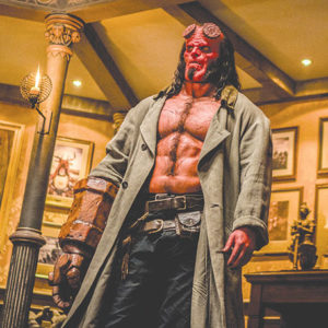 David Harbour stars as Hellboy in a reboot of the film franchise about a superhero from the underworld. (photo courtesy of Summit Entertainment)
