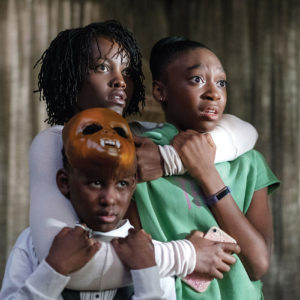 "In Jordan Peele's ""Us,"" Adelaide (Lupita Nyong'o), Jason (Evan Alex) and Zora (Shahadi Wright Joseph) are confronted by alternate versions of themselves called the Tethered. (photo courtesy of Universal Pictures)"