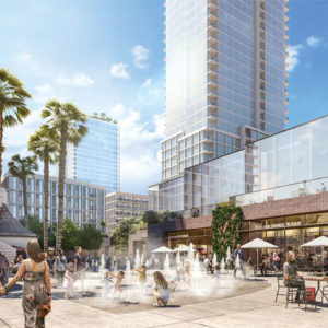 The Crossroads Hollywood project from Harridge Development Group passed the Los Angeles City Council in January, but it's still the subject of criticism by the Coalition to Preserve LA. (rendering courtesy of Harridge Development Group)