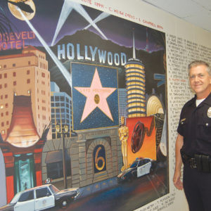 Senior Lead Officer Paul Jordan helped organize the Hollywood Division's open house and invited the community to attend on April 27. (photo by Edwin Folven)