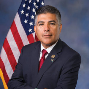 Cardenas, whose father came to America to work as a farm laborer, said he is thankful for the 70 colleagues in Congress who support the bill. (photo courtesy of the 29th Congressional District of California)
