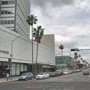 Metro has conducted additional noise monitoring at 8500 Wilshire Blvd., where there have been a few complaints about noise. So far, a project manager for the city said noise from Metro's nearby staging area has stayed within agreed-upon limits with the city. (photo from Google Maps)